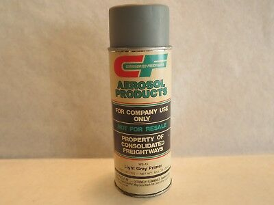 Consolidated Freightways Gray Primer Spray Paint Can Paper Label Vintage