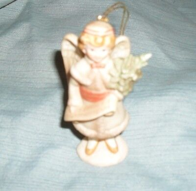 Vintage Schmid B. Shackman Ceramic Angel Ornament 1985