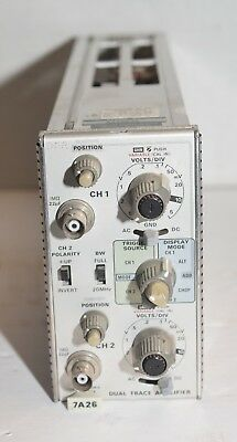 Tektronix 7A26 Dual Trace Amplifier Plugin from working oscilloscope 7834