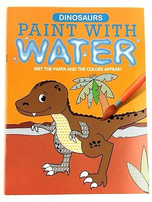 Dinosaurs Paint With Water Coloring Book For Kids