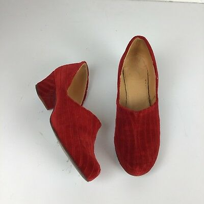 Christmas Red Vintage 1930's Slipper Shoes