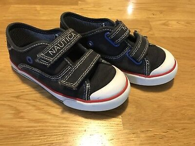 NAUTICA Size 9 Toddler Boys Navy Blue Easy Closure Shoes Sneakers