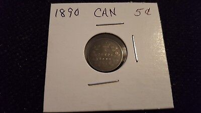 1890 Canadian 5 cent
