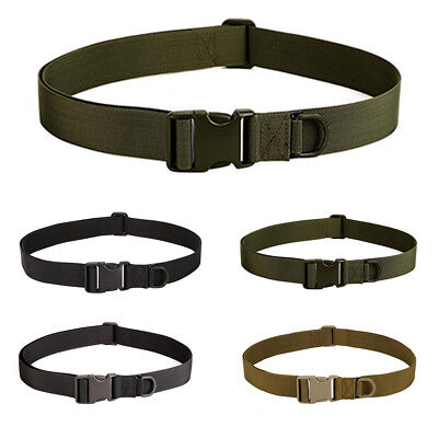 Men Tactical Nylon Canvas Woven Belt Casual Outdoor Military Style Waistband US