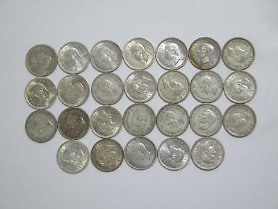 New Zealand 3 Pence Mixed Date Silver Type Old World Coin Collection Lot #a