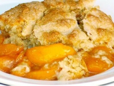 Grandmas Finest Peach Cobbler recipe...free shipping To Your Email T