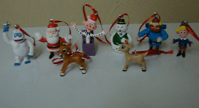 Rudolph The Red Nosed Reindeer 8 pc Ornament Set Bumble Yukon Cornelius Hermey