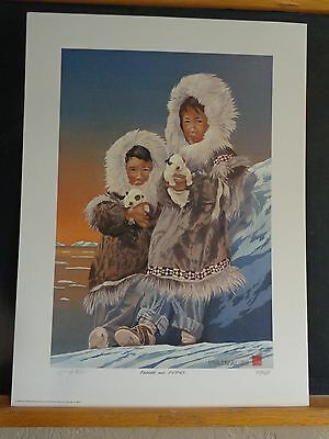 """Parkas and Puppies"" Art Print by Byron Birdsall"