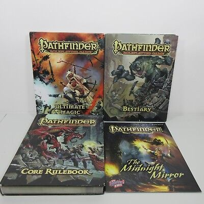 Pathfinder Roleplaying Game Lot of 4 Books Core Bestiary Ultimate Magic Module