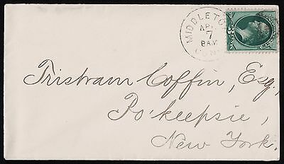 USA 1887 Middletown Connecticut  To New York Cover. VF