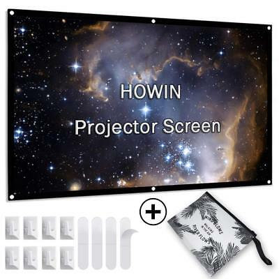 84 inch 4k HD Double Sided 16:9 Anti-Crease Foldable Portable Projection Screen