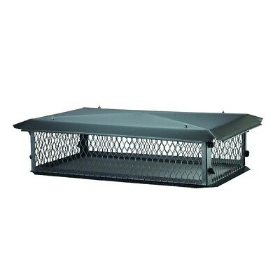 41 x 17 in. Chimney Cap Multi-Flue Black Galvanized Steel Metal Hood Roof Mount