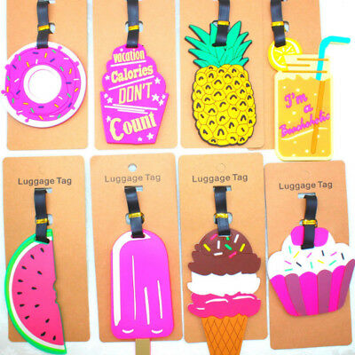 Creative Cartoon Name Address Label Suitcase Pineapple Silicone Luggage Tag Gift
