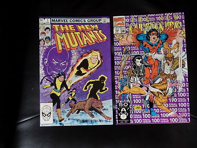 New Mutants two issue lot #'s 1 and 100 — Very Fine or Better — No Reserve