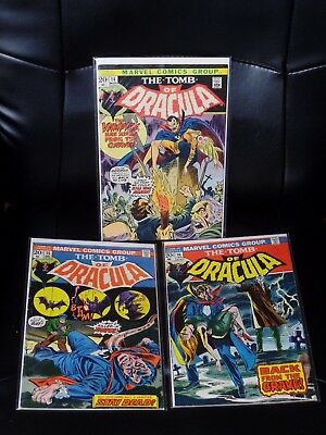 Tomb of Dracula Three Issue Lot #'s 14, 15, & 16 Mid Grade — No Reserve