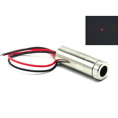Focusable 635nm 5mW Red Dot Laser Diode Module 3-5V Adjusted Driver 12x35mm