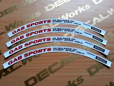 16 inch Gab Sports Rim Replacement Mags Decal Sticker Emblem