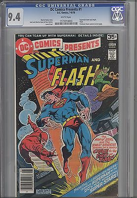 DC Comics Presents #1 CGC 9.4 1978 Comic 3rd Superman Flash Race KEY Issue