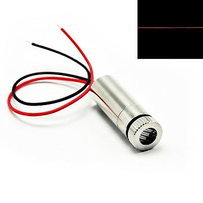 Focusable 635nm 5mW Red Line Laser Diode Module 3-5V Driver 12x35mm Cable
