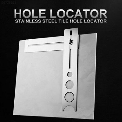 786F Rotary Tools Tool Parts Tile Hole Locator Practical Stainless Steel Silver