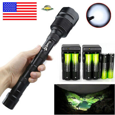TrustFire Flashlight 50000LM 3X T6 LED Torch Light Lamp 18650 Battery Charger US