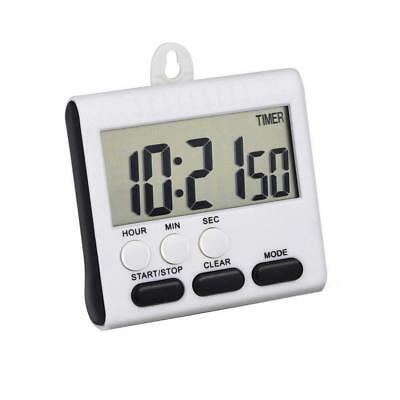Large LCD Digital Kitchen Timer Countdown Up Alarm Clock 24 Hours Magnetic