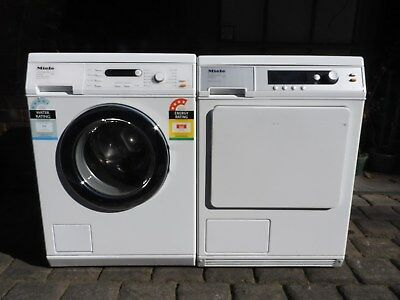 Miele 6.5kg Front Load Washing Machine and Miele 7kg Dryer.