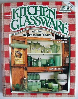 KITCHEN GLASS PRICE GUIDE COLLECTORS BOOK Includes Reamers Cruets Canisters more