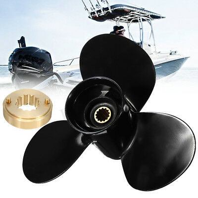 11 3/8 x 12 Aluminum Boat Outboard Propeller Fit For Mercury 25-70HP 48-855856A5
