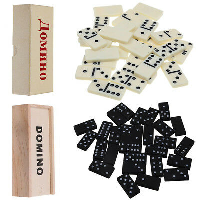 Dominoes Traditional Set Board Game Classic DOUBLE SIX 28 Piece Kids Game IN BOX