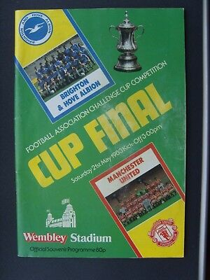 1983 FA CUP FINAL  BRIGHTON & HOVE ALBION v MANCHESTER UNITED @ Wembley