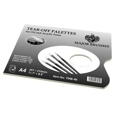 Major Brushes Palette Pad 40 Sheets A4 Size with Thumb Hole
