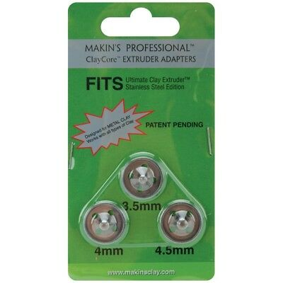 Extruder Adaptors 3.5 4 5mm - Makins Professional Claycore Adapters 3pkg3 4mm