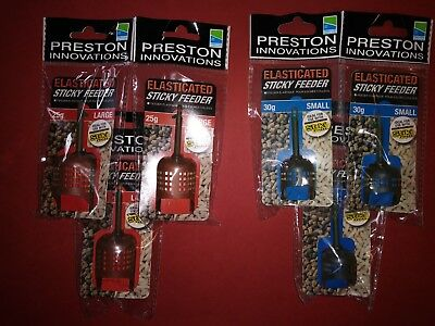 Large 25g Small 30g Preston Innovations Elasticated Sticky Feeder Pack of 3}