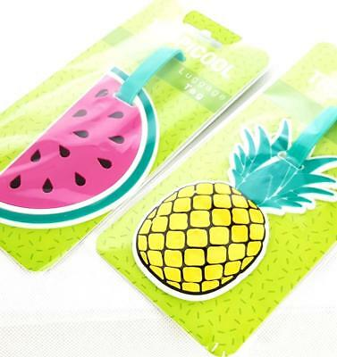 Luggage Tags FRUIT STYLE Pineapple/Melon A Fun & Ideal Way To Identify Your Case