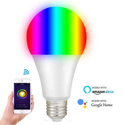 Smart RGBW Tunable White & Color LED Bulbs(10W) WiFi controlled Light Bulbs(1pc)