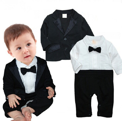 New Baby Boy 2 Piece Tuxedo Wedding Party Occasion - 12 Months