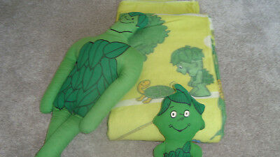 Vintage Tall Jolly Green Giant Plush Stuffed Advertising RARE Blanket Sprout Lot