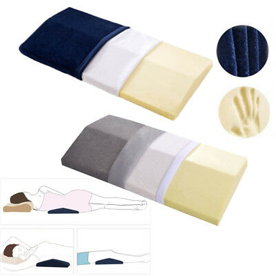 2x Memory Foam Triangle Lumbar Support Wedge Pillow Bed Cushion for Sleeping