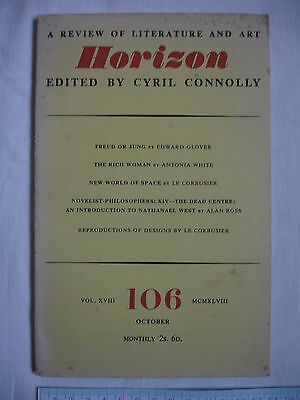 Used magazine HORIZON-Vol XVIII-Issue106 October1948-Cyril Connolly-Le Corbusier