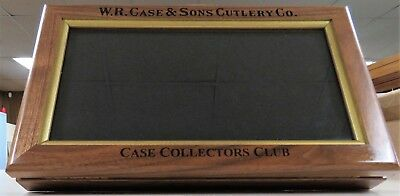 Case Knife Display Case CCC Special Walnut & Glass Countertop VERY NICE! RARE NR
