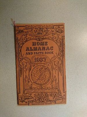 1937 Ford Home Almanac and Fact Book
