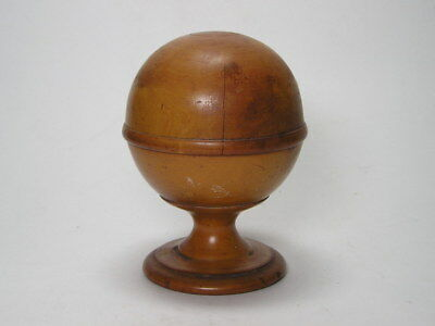 Antique Apothecaries  Boxwood Pedestal Treen Chemists  Pill Silverer