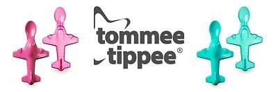 Tommee Tippee Pink spoon Aeroplane Plane Baby Weaning Feeding Mealtime 1X