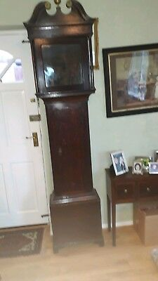"Antique Oak Longcase Grandfather Clock Case for 12 "" x 12"" dial"
