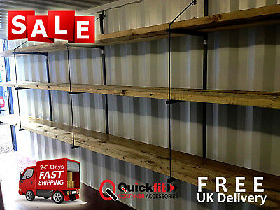 Shipping Container Shelving System Extra Strong Storage (3 tier) (3 Bracket set)