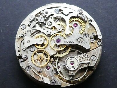 Venus 188 not working Chronograph Movement Caliber for parts (K151)