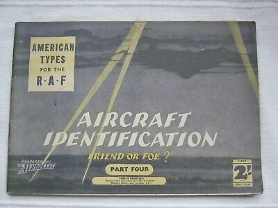 Aircraft Identification WW2 -American Types for the RAF,1st 1941 Peter Masefield