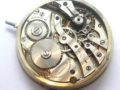 E Howards Pochet watch working 17 jewels Movement Caliber for parts (K155)
