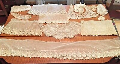 Large Group of Victorian Lace Trim